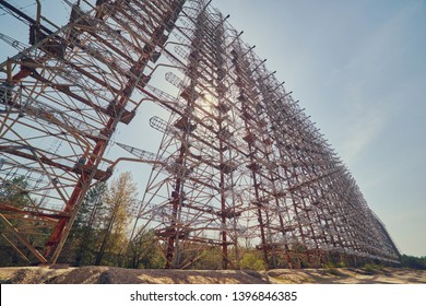 military secret object antenna radar Doug in Chernobyl in Ukraine