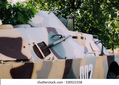 military Soviet military equipment armored personnel carriers, military equipment during the war in Ukraine. The war in Ukraine