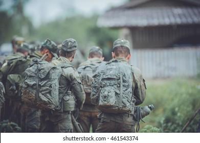 Military, strength endurance training