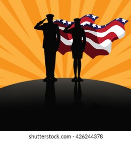 Military super heroes marketing poster background design.