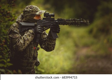 Military takes aim in forest
