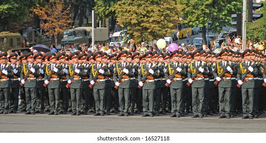 Military technique parade  in Kiev (Ukraine) of Augusts, 24, 2008. Independence day.