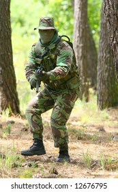 Military training combat, forest/jungle environment