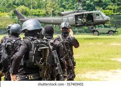 Military training to increase the capacity of personnel in Thailand.