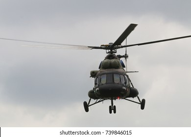 Military transport helicopter Mi 17
