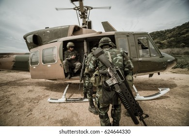 Military transport helicopters