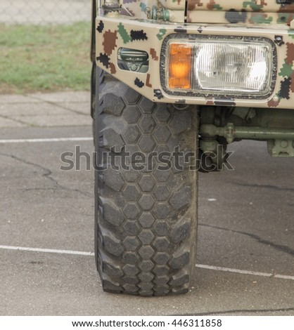 Military truck front headlight