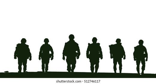 military,Soldiers patrol