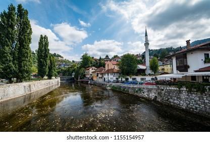 Miljacka River in Sarajevo