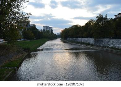Miljacka river-Sarajevo-Bosnia Herzegovina-10.09.2018.