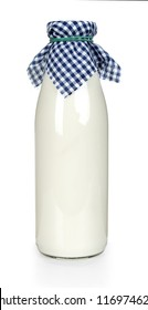 Milk bottle. Isolated on white background