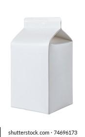 Milk Box per half liter, isolated on white background