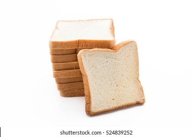 milk bread on white background