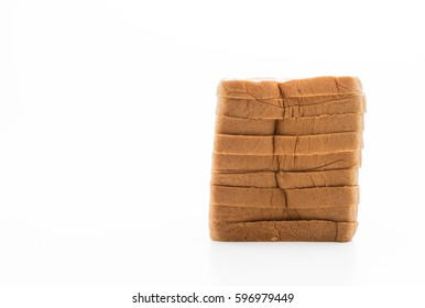 milk bread on white background