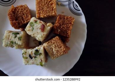 Milk Cake ( Kalakand) Indian sweet dish