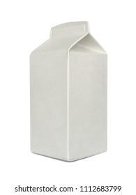 Milk Carton Pack Template Mockup