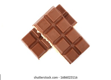 milk chocolate bar on a white background