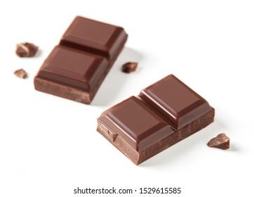 Milchschokoladenriegel auf Weiß