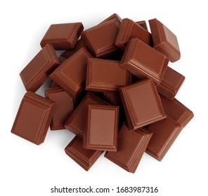 milk chocolate on white background