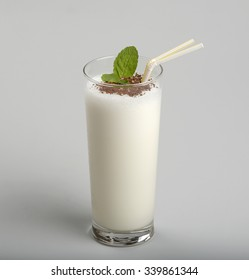 Milk cocktail with grated chocolate