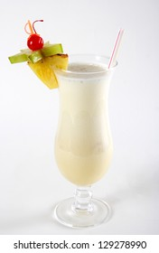 Milk cocktail with pineapple and carom