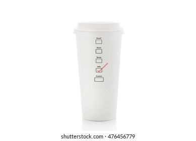 milk in coffee Cup Isolated