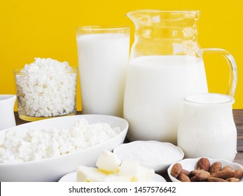 Milk, cottage cheese and dairy products
