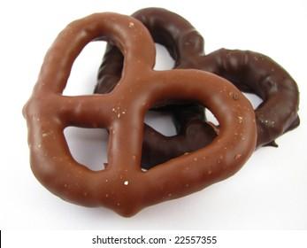 Milk and Dark Chocolate Covered Pretzels