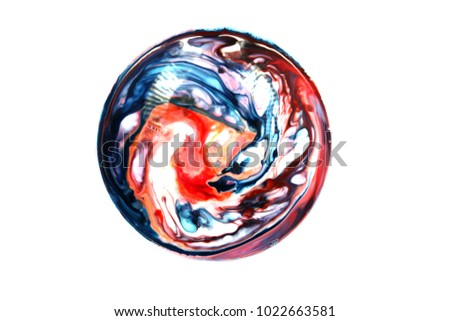 Milk Food Coloring Dish Soap Make Stock Photo (Edit Now) 1022663581 ...