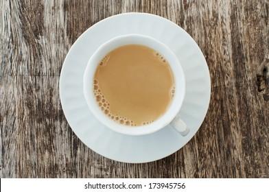 milk tea, top view