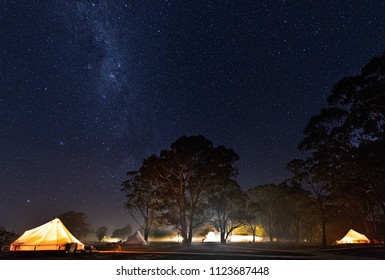 Milk way at Bendigo Glamping