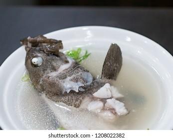 milkfish soup closeup