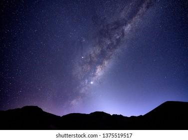 Milky storm in Cordillera de Los Andes