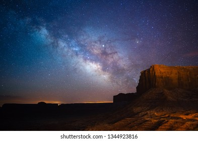 Milky Way above Monument Valley, Utah, USA
