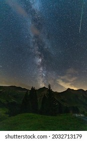 Milky Way above Swiss Mountains