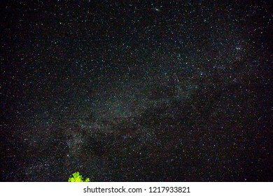 The milky way above us