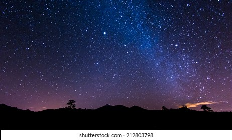 Milky Way above volcano Teide and Pico Viejo at Tenerife