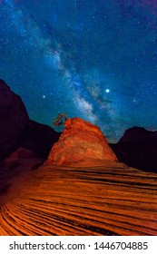 Milky way above Zion, Utah, USA.