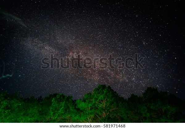Milky way from Angkhang mountain, Thailand