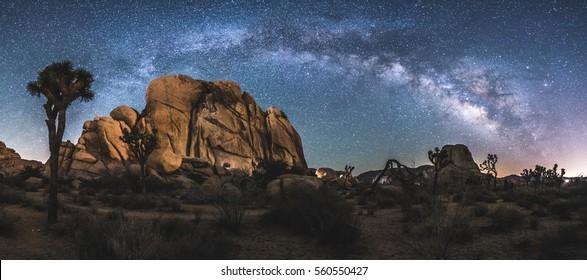 The Milky Way Arch above Joshua Tree