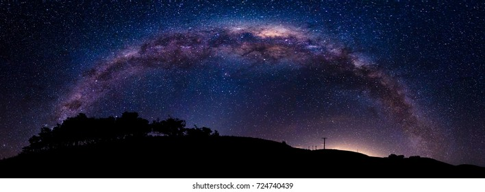 Milky Way arch over Akaroa