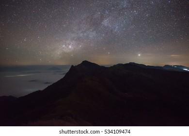Milky Way at Doi Pha Tang Mountain in Chiang Rai Thailand