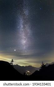 Milky way From Duran Pass. Near Agordo.