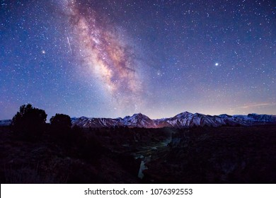 Milky Way from the Eastern Sierra Mountains, California, USA.