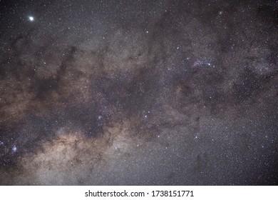 Milky way and galactic center over atacama desert