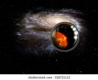 """in the Milky Way galakxy and our Solar system (heic0602a Pinwheel galaxy) """"Elements of this image furnished by NASA """""""