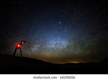 Milky Way Galaxy 02 Star tracking system and DSLR Mojave Desert California US