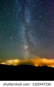 Milky Way Galaxy and Comet