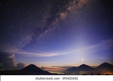 Milky Way Galaxy loc Mount Batur Kintamani Indonesia