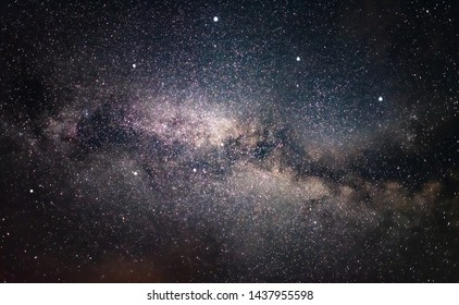Milky Way galaxy in the night sky. Starry sky
